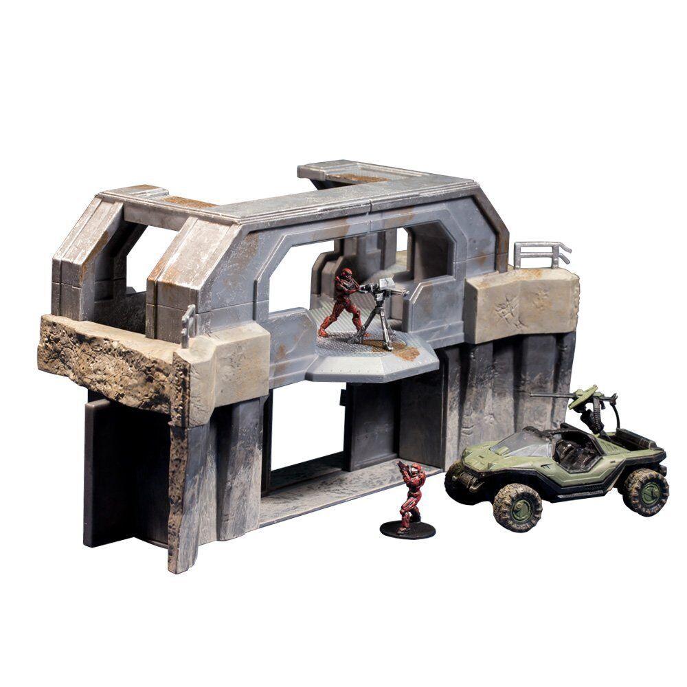 McFarlane Toys Halo Micro  Ops Series 1  High Ground Gate w  Warthog + 2 Spartans  gros pas cher