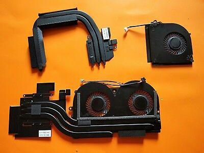 new  for clevo  P950EN  RTX20 seires cpu fan+GPU fan heatsink 4 wires