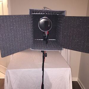 microphone stand soundproof booth portable vocal booth ebay. Black Bedroom Furniture Sets. Home Design Ideas