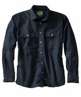 Men's Woolrich Expedition Chamois Shirt Heavy Navy 100% Cottn M L Xl 2xl 3xl