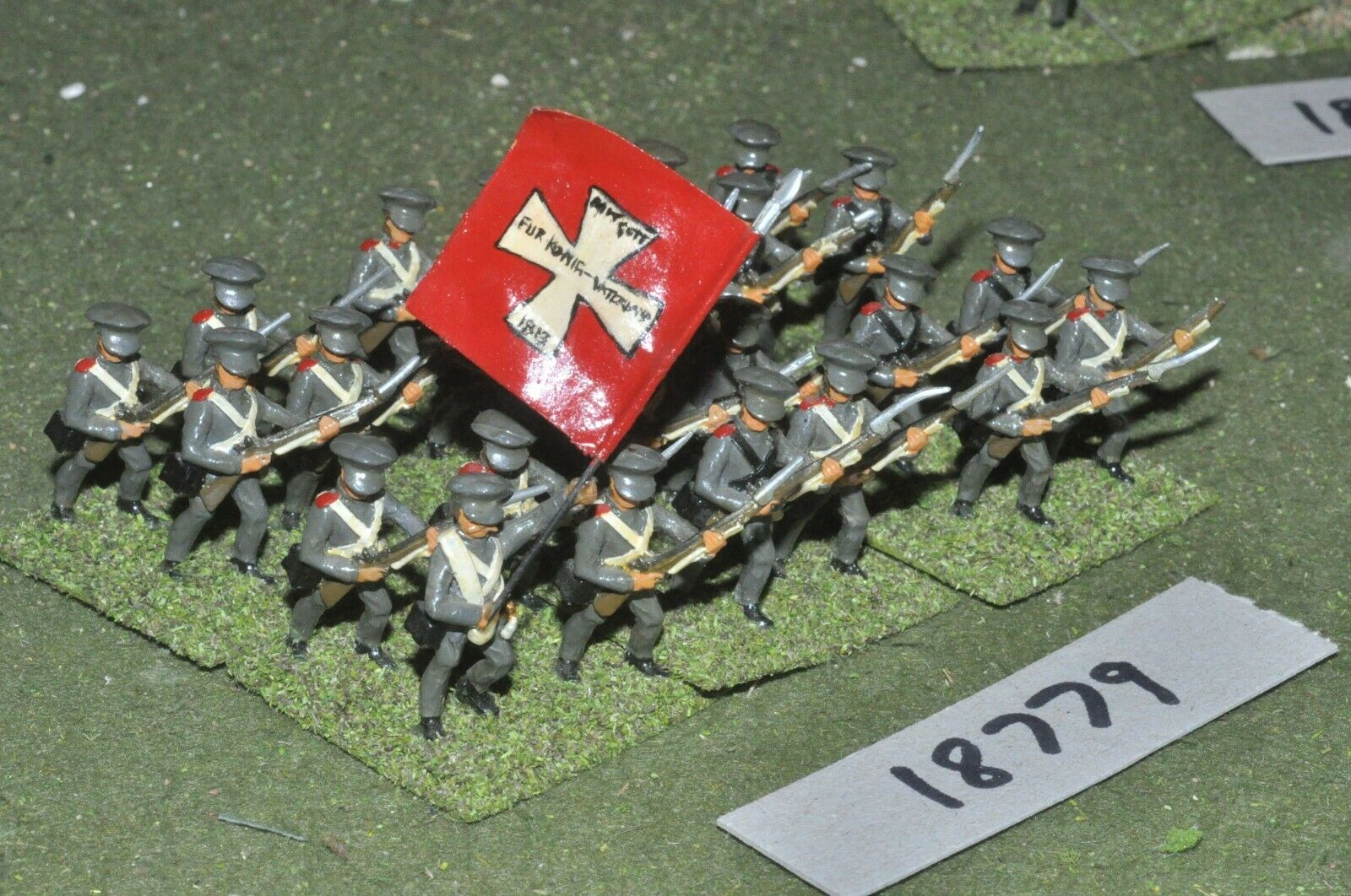 25mm napoleonic   prussian - infantry 24 figures - inf (18779)