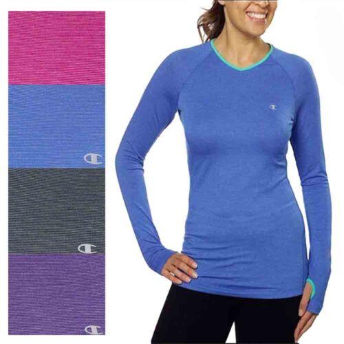 NWOT Champion Women/'s Active Yoga Athletic Long Sleeve Shirt with Thumbhole
