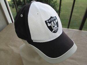 Vintage LA Los Angeles Raiders Reebok Hat Cap White Black Strapback ... 5f77e296cb1