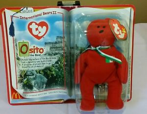 aa31cf947ba Ty McDonald s International Bears II Teenie Beanie Baby  Osito the ...