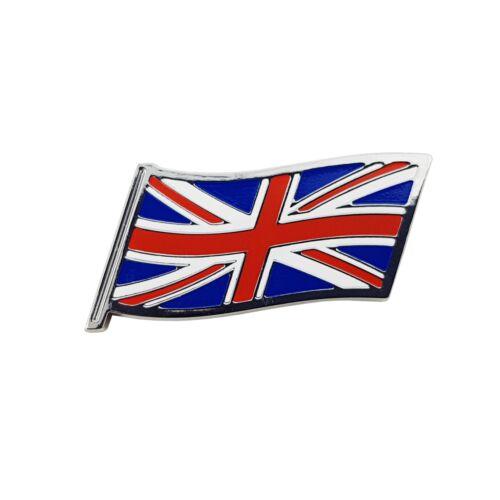 Union Jack Flag Adhesive Plastic Badge For Classic Cars /& Motor Bikes UJB006