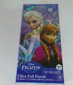 Disney Frozen Puzzle Elsa And Ana  48 Ultra Foil 15 inches by 11.2 inches