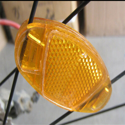 1Pc Bicycle Ride Spoke Reflective Warning Safety Reflector Mount Vintage Clip S