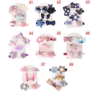 5Pcs-set-Lovely-Enfants-filles-Noeud-Cheveux-Clips-Barrette-epingle-a-cheveux-Hair-Accessories