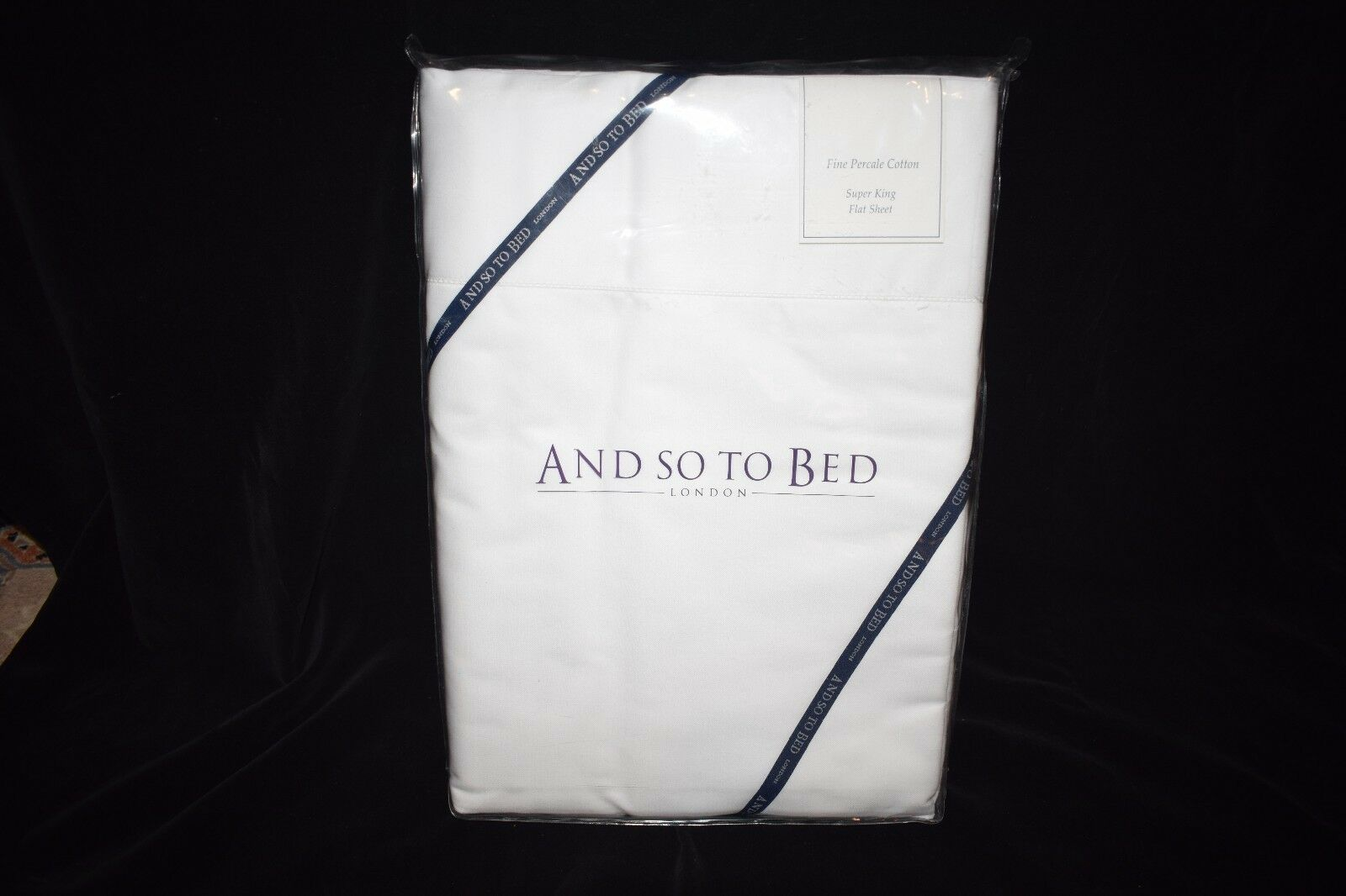 Super King Flat Sheet from AND SO TO BED - London - Fine Percale Cotton