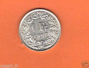 Schweiz - 1 Franc Silber 1963 ( Réf. 106 )