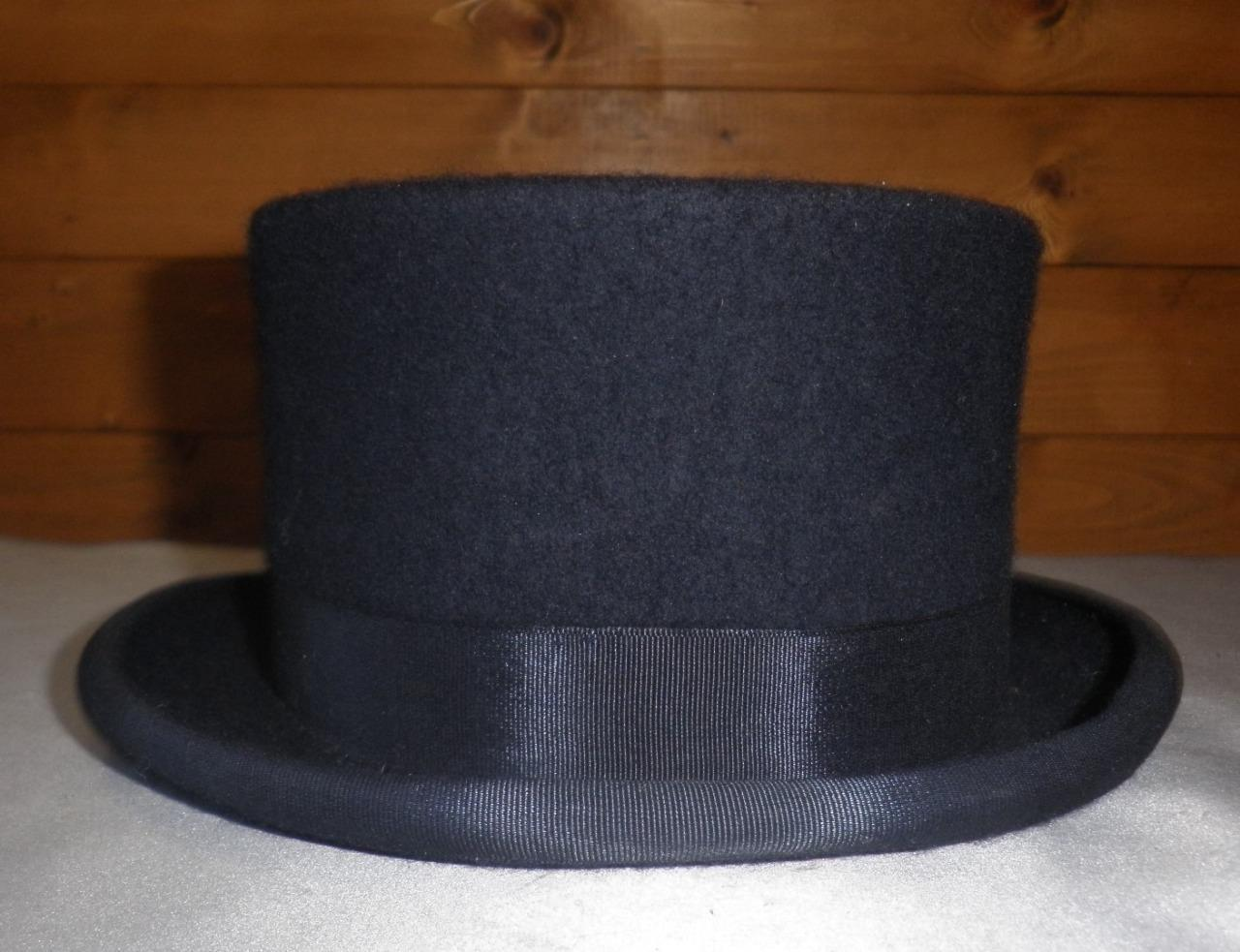 Vintage 100% Wool Navy Kleidtage Hat By Christys London - 53cm - 6,1 2