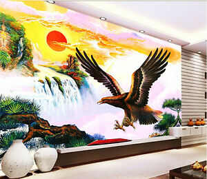 Details About 3d Bird Chinese Painting Wall Paper Print Decal Wall Deco Indoor Wall Mural