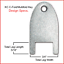 Kimberly Clark #770101 key for C-Fold//Mutifold Hand Towel Dispensers 12//pk.