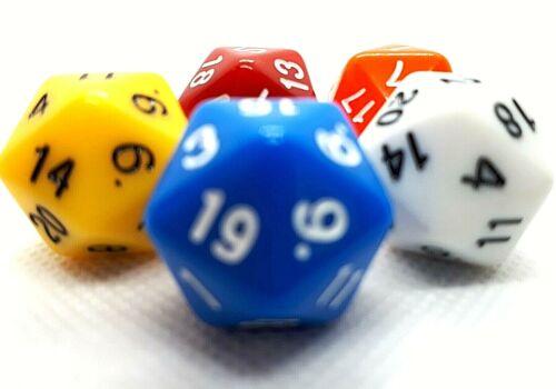 5 RPG 20-seitige Würfel Ikosaeder W20 D20 Mix Opaque dice4friends Rollenspiel