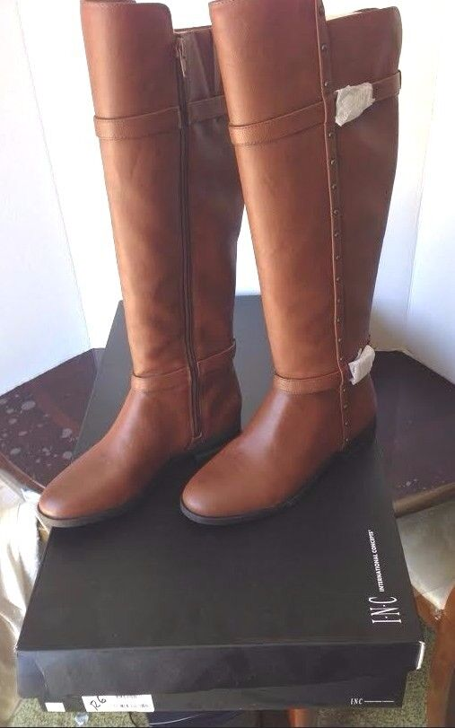 Riding Boots INC International Concepts Ameliee Cognac Size 6 Brand New
