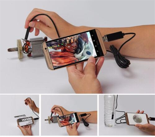 7.0MM Lens 2 in 1 USB Inspection Camera 6 Pcs Adjustable LED Lights Waterproof