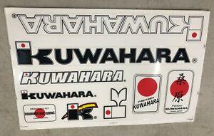 KUWAHARA-Bike-Works-Japan-Decal-Set-9-stickers-per-sheet-Old-School-BMX-Limited