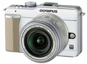 Olympus Mirrorless Single-Lens Pen E-Pl1 Lens Kit White E-Pl1 Lkit Wht