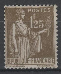 FRANCE-STAMP-TIMBRE-N-287-034-TYPE-PAIX-1F25-OLIVE-034-NEUF-xx-TTB-N434