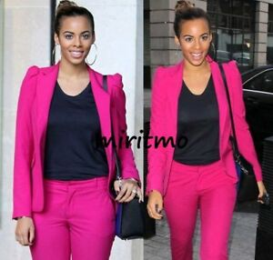 ZARA-WOMAN-PINK-FUCHSIA-BLAZER-JACKET-COAT-PUFFED-SHOULDERS-MEDIUM-M