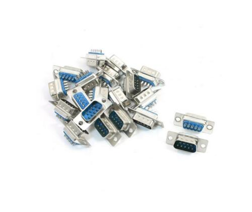 10pcs D-SUB 9 Pin DB9 Male Solder Type Socket Conneclsr/_WK