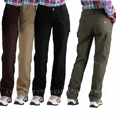 59318dc51d Dickies Pants Womens Relaxed Straight Fit Carpenter Work Duck Jeans FD2300  Color | eBay