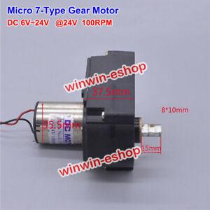 Micro-7-Type-Slow-Speed-Gear-Motor-DC-12V-24V-100RPM-Large-Torque-Generator-Tank