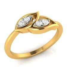 Demira Jewels Leaf Promise Gold Diamond Ring