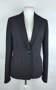 Long-Tall-Sally-Ladies-Black-Pinstripe-Smart-Blazer-Jacket-UK-12-Work-Formal
