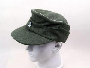 a82220023c0d72 Replica WWII German Army Officer M43 WH EM field Panzer Wool Cap Hat ...