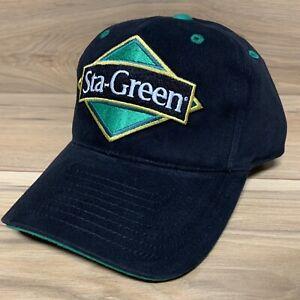 Team Issued Hendrick Motorsports Sta-Green Nascar Racing Black Strapback Hat
