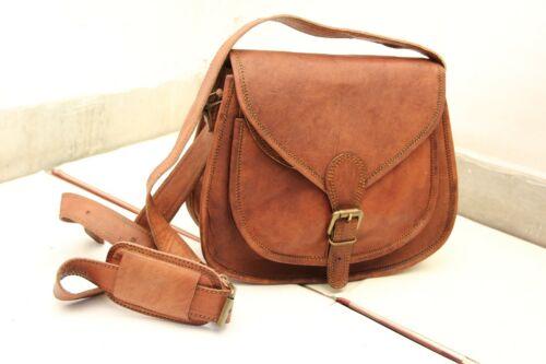 Details about  /women/'s Vintage Fashion Genuine Brown Leather Messenger Shoulder Cross Body Bags