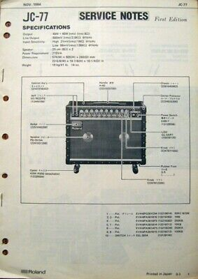 Roland JC-77 Jazz Chorus Guitar Amp Original Service Manual Schematics on true bypass schematic, egnater rebel 20 schematic, crate 50 tube amp schematic, vox ac4 schematic, fender power chorus schematic, peavey special 130 schematic, looper pedal schematic, 59 bassman schematic, gibson ga-40 schematic, fender tweed champ schematic, marshall super lead schematic, soldano x88r schematic, tube overdrive pedal schematic, vox ac30 schematic, marshall plexi schematic, marshall jcm 800 schematic, dumble schematic, frontman 25r schematic, marshall 1974x schematic, vox ac30cc schematic,