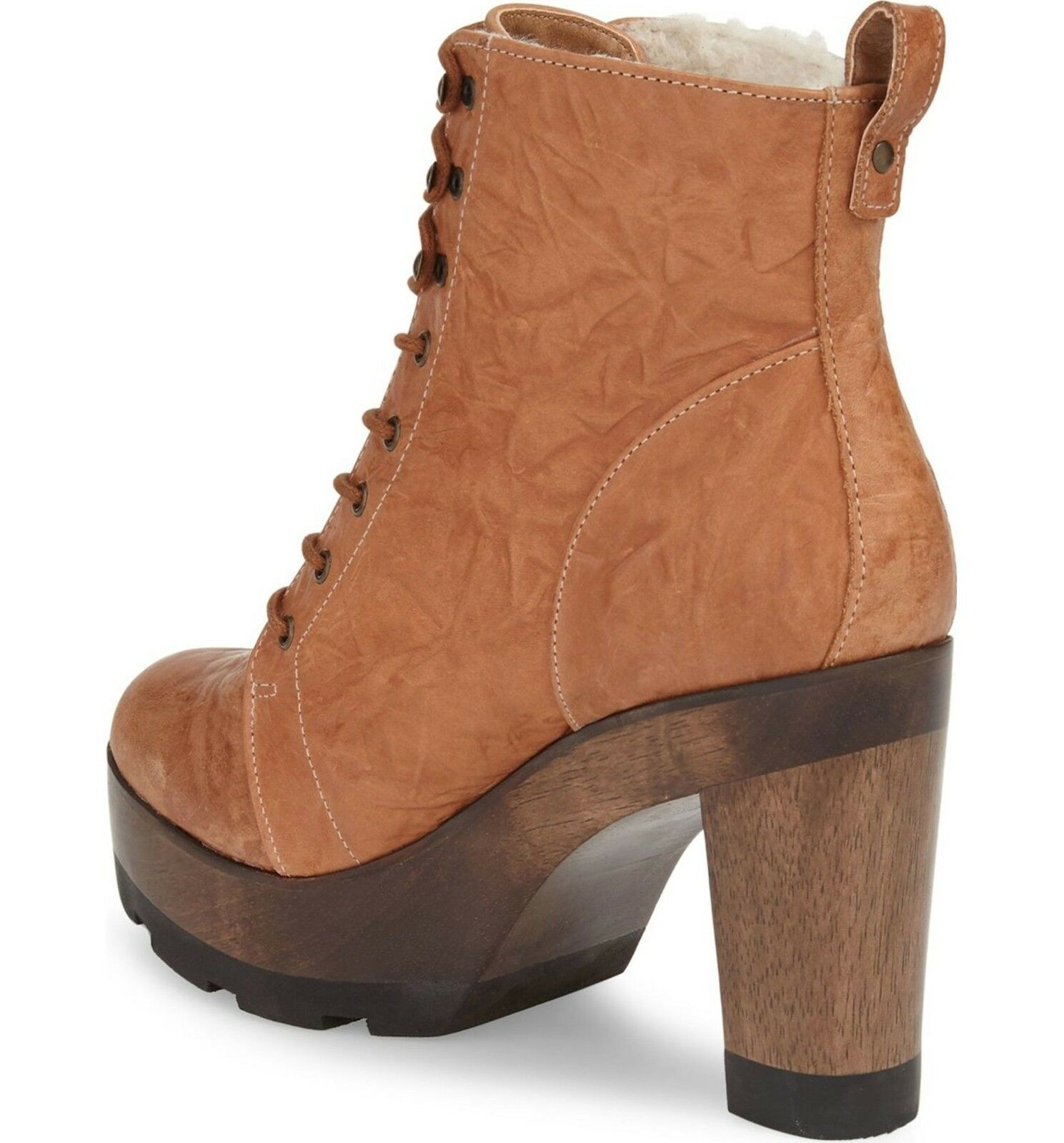 Kelsi Dagger Brooklyn 'Farren Vintage' Platform Bootie Tan Brown 8 8.5 200 NEW