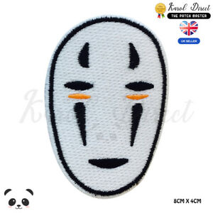 Spirited-Away-Studio-Ghibili-No-face-Embroidered-Iron-On-Sew-On-Patch-Badge