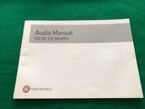Auto Parts and Vehicles Vauxhall CD30 MP3 Radio Audio Owners Manual Handbook ASTRA CORSA VECTRA