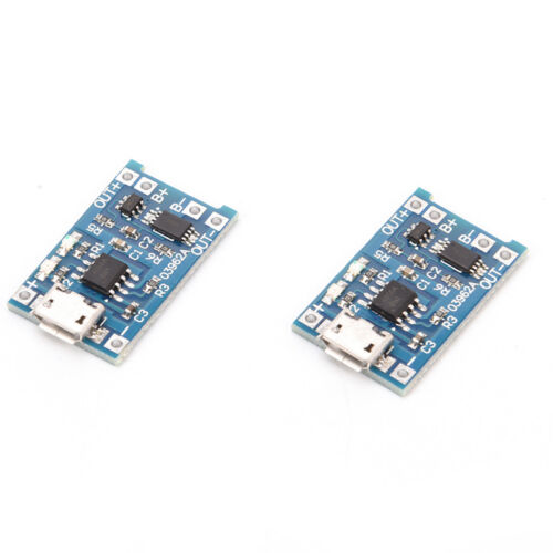 2PCS TP4056 5V 1A USB 18650 Lithium Battery Charger Board Protection Module,CRH