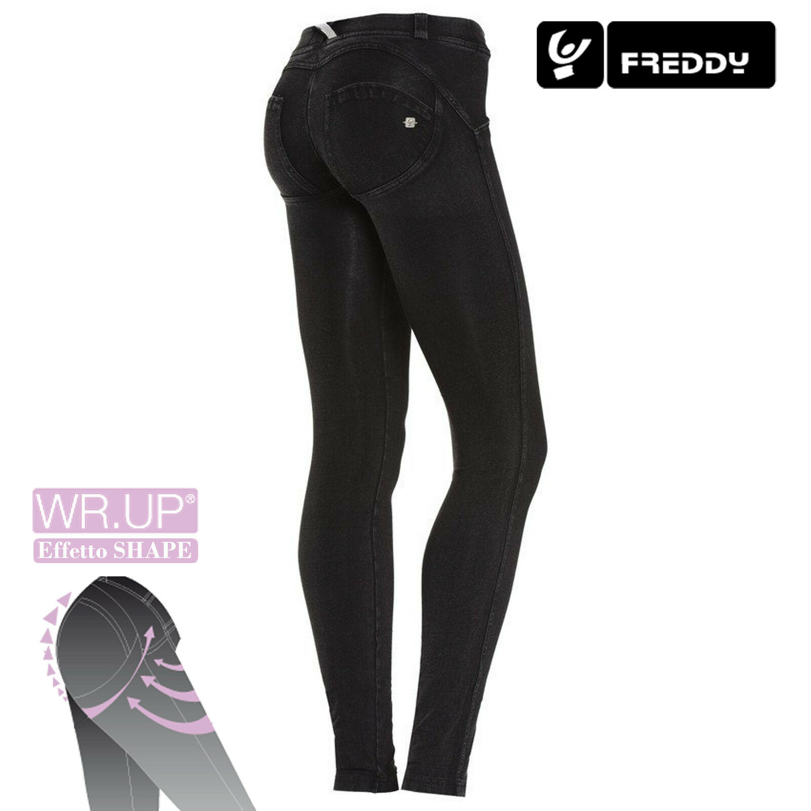 Freddy WR.UP Jeans women Skinny Fit WRUP1LJ1E J7 N COL. black CUCITURE NERE NEW