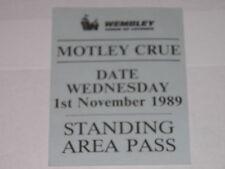 Motley Crue Vintage Pass Wembley Arena, London 1 NOV 1989 RARE!