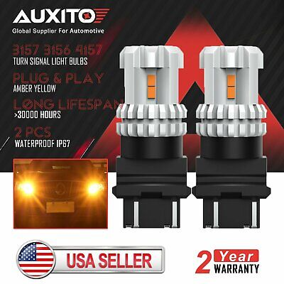 2X AUXITO 3157 3156 Turn Signal Brake Tail Light Bulb Super Red LED 48H For Ford