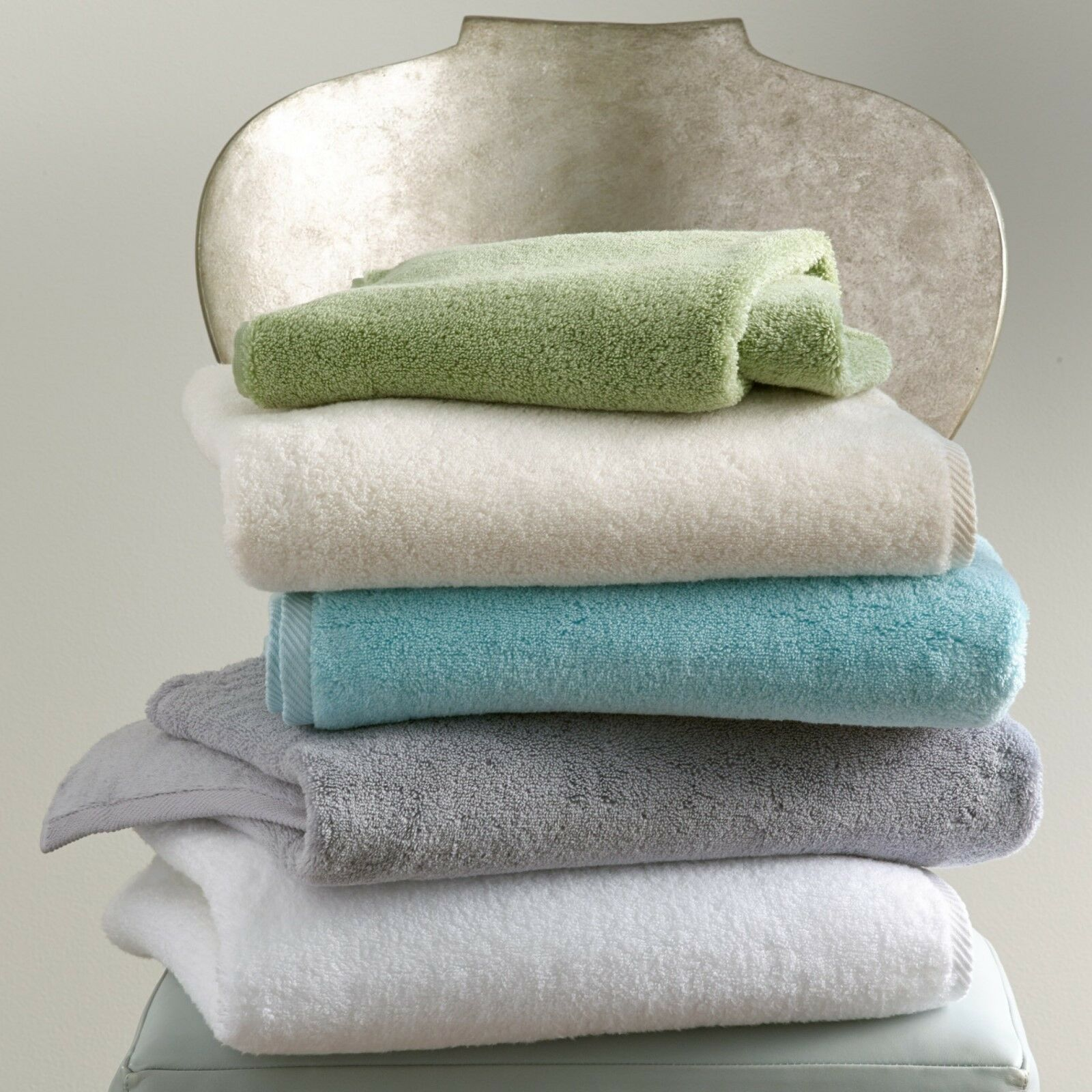 Matouk Milagro Bath Towel, Set of 4 Mineral