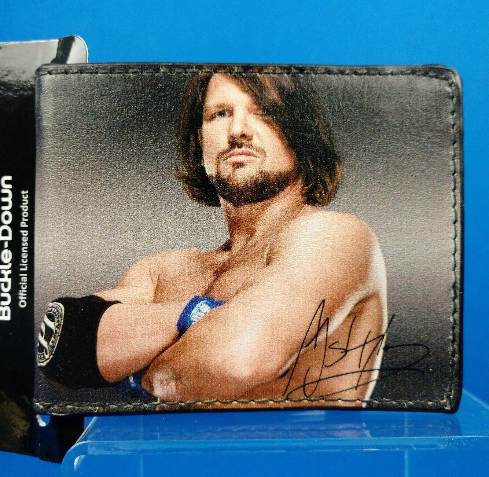 AJ Styles Picture I Am Phenomenal Buckle Down Bi-fold Wallet - NEW TNA WWE