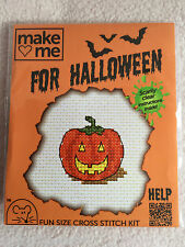 MOUSELOFT CROSS STITCH KIT ~  MAKE ME FOR HALLOWEEN ~ PUMPKIN ~ NEW