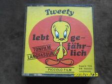 Piccolo  Super 8 Film TWEETY LEBT GEFÄHRLICH (s/w - Tonfilm - Langfassung)
