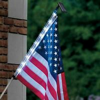 Homebrite Solar Night Flag Pole Home Decor Patriotic American Usa Light 4th July