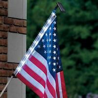 Homebrite Solar Night Flag Pole Home Decor Patriotic American Usa Light 4th July