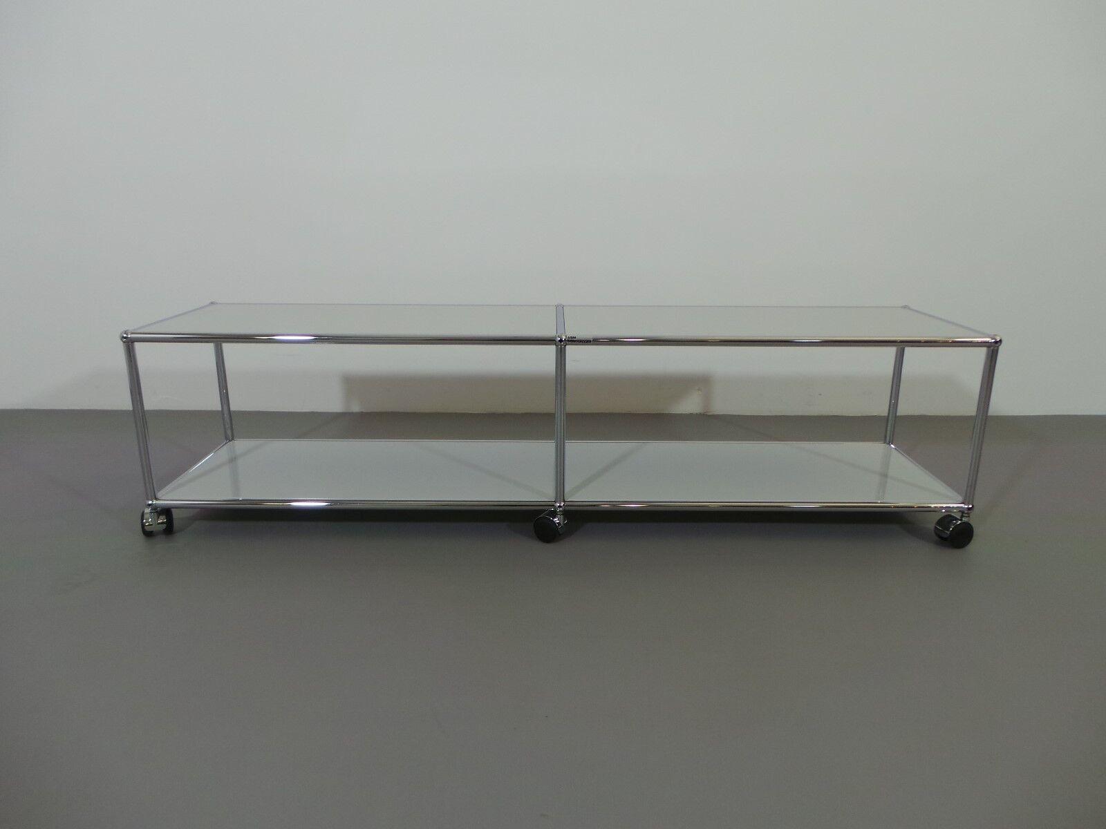 Usm Haller Lowboard TV Board Medienboard lichtgrau B 150 cm H 38,5 cm offen