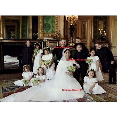 ROYAL WEDDING Photo 8x10 PRINCE HARRY MEGHAN MARKLE Official Wedding Portrait