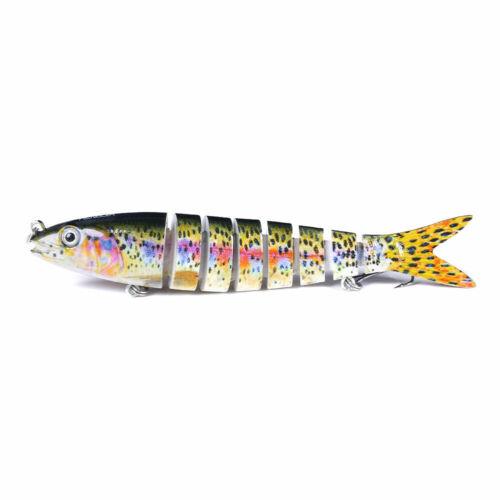 Multi Jointed Fishing Lure 13cm//19g Swimbait Wobbler Hard Bait Crankbait Tackle