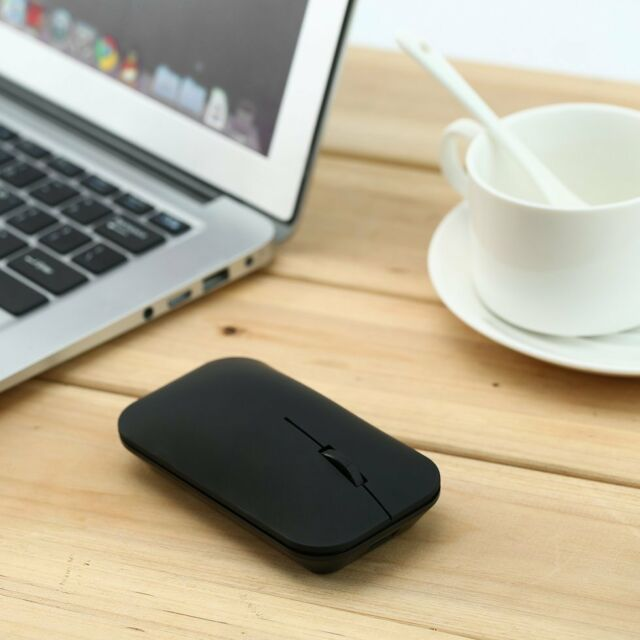 Black Ultra Thin Bluetooth 3.0 Wireless Rechargeable Mouse VMW-181 BT
